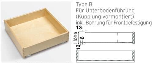 Massivholzlade TYPE B
