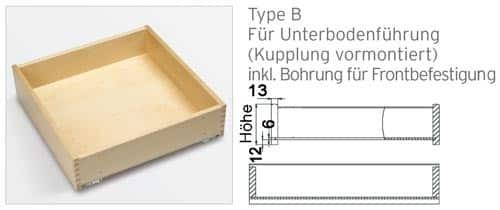 Massivholzlade Type F